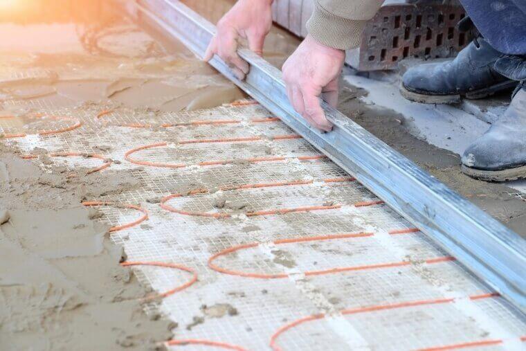 deklaag vloerverwarming vloer